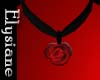 {E} Red Rose Choker