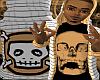 *CA* Tan Skull Hoody