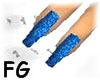 X-LONG BLUE GLITTER NAIL
