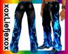[L] Blue Flame Pants M