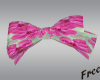 Kid's pink floral bow