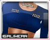 ►Blue Cropped .Top