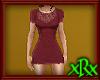 Lacy Dress Burgundy