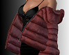 SL Poofy Coat Burgundy
