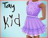 Kid Purple Lace Dress