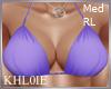 K purple bikini top RL
