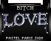 !B Pastel Paris LoveSign