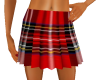 schots pleated red skirt