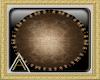 (AL)Brown Circular Rug