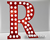 H. Marquee Letter Red R