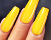 GEL Coffin Nails YELLOW