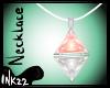Peach Diamond Necklace