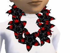 Lei in Black and red