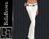 BB Belted White Pants