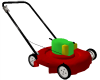 ! ANIMATED LAWN MOWER