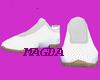 White  Tan shoes