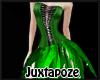 Green Feather Dress