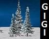 snowy pine tress set 3