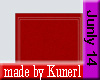!K! Red Square Rug