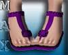 Beachy Sandals Purple