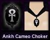 Ankh Cameo Choker