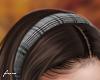 f. grey plaid hairband