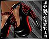 Vamp Spiked Heels Red