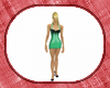 green spiked dress med