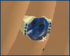 Blue Gemstone in Gold Rt