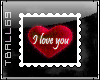 I love you Heart Stamp