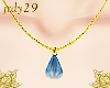 <J> Teardrop Necklace <>