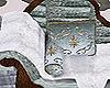 Ice Blue Velvet Chaise