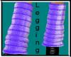 Purple Knit Leggings