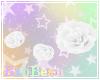 B  Leg Roses - White