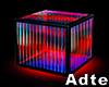 [a] Neon Red Chair Cube
