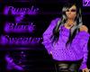 (TP)~Purple&BlackSweater