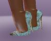 Gold starburst heels