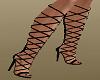 Black Criss Cross Boots