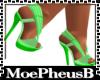 Pastel Green Strap Heel