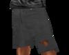 torn black jean short