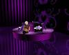purple round couch
