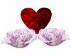 Valentines rose n heart
