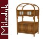 MLK Small Wood Cabinet