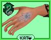 K | Indigo Hamsa Tatt