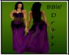 BBW purple Romance gown
