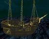 Rich Golden Pirate Ship