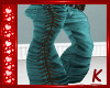 {K} Teal Jeans
