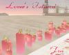 Jai LI pink row candles