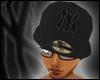 Black Front & Back Cap