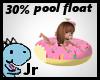 30% pink donut floatie